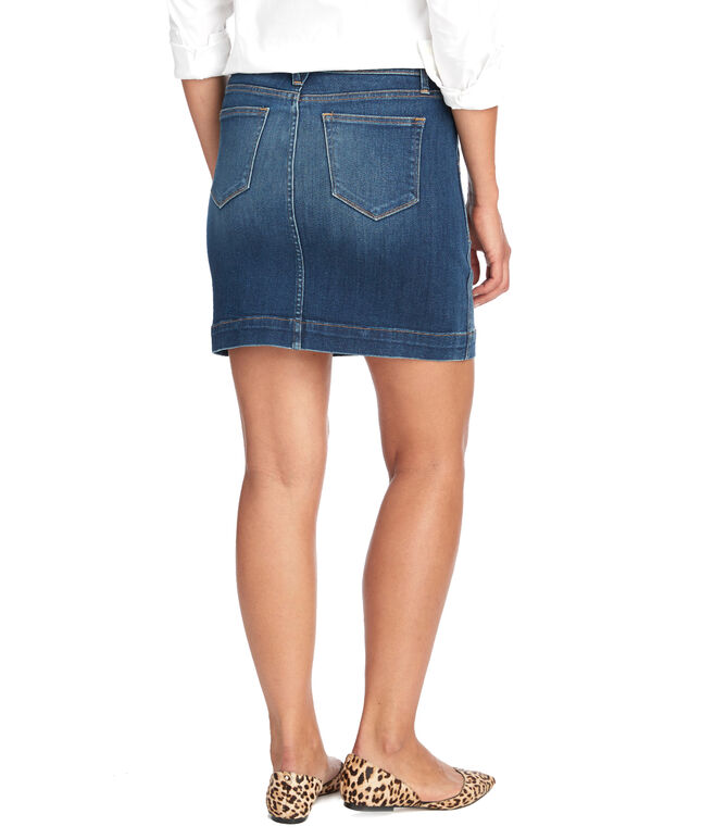 Made in the USA Utility Pocket Denim Skirt