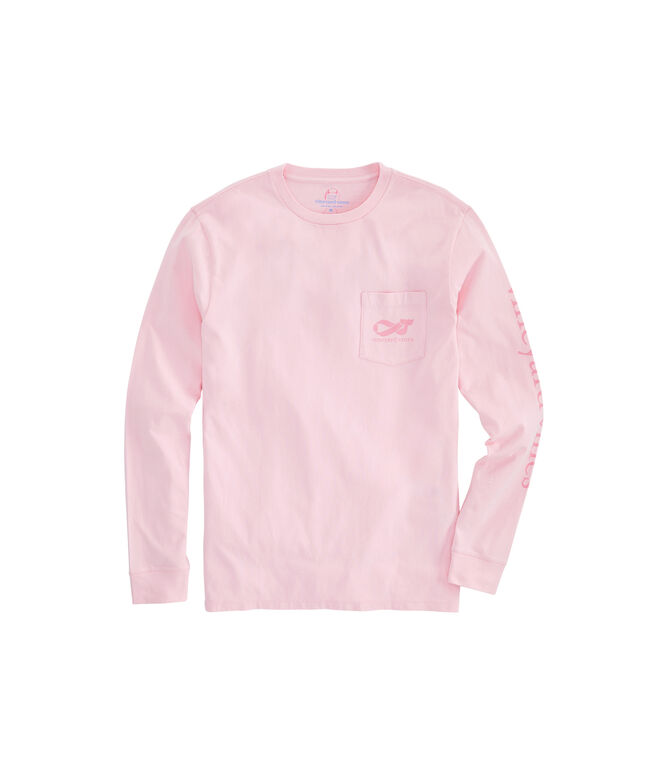 Big & Tall 2019 Breast Cancer Awareness Long-Sleeve Pocket T-Shirt