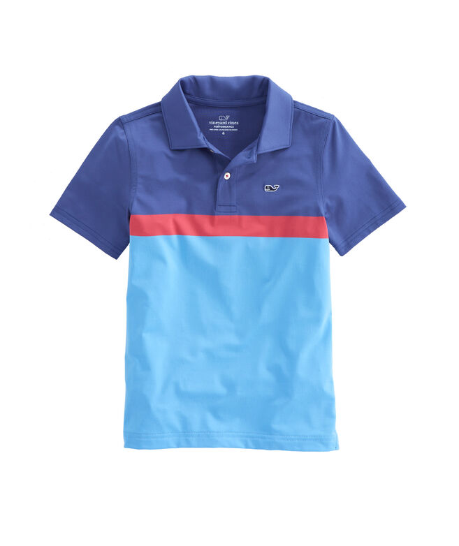 Boys Engineer Chest Stripe Sankaty Performance Polo