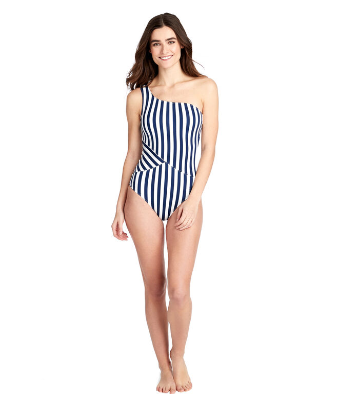 Favorite Stripe One Shoulder One-Piece