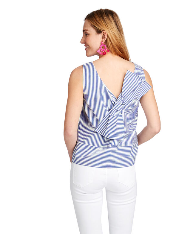 Sarah Stripe Bow Back Top
