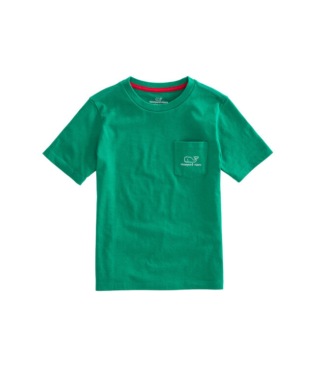Boys Vintage Whale Pocket T-Shirt