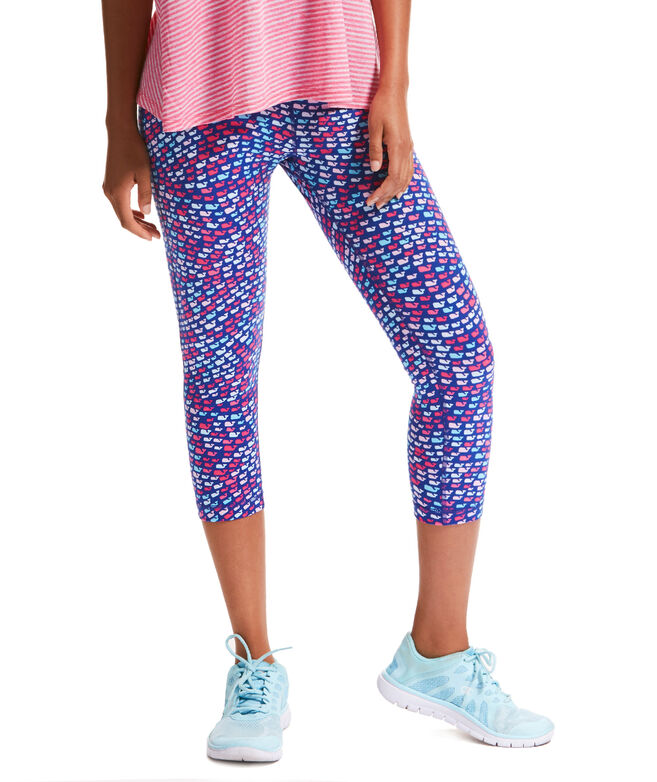 School Of Whales Performance Crop Leggings