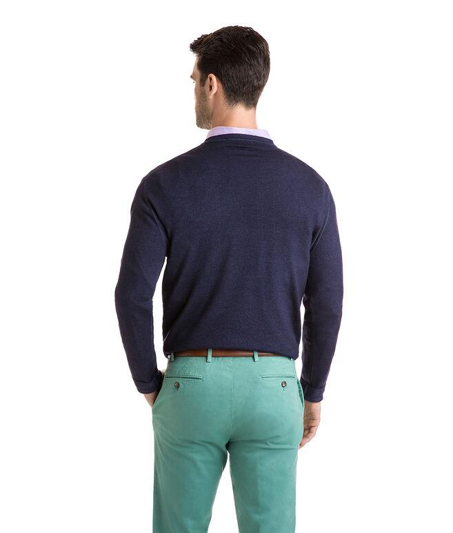 The Greenwich Garment Dyed Merino V-Neck Sweater