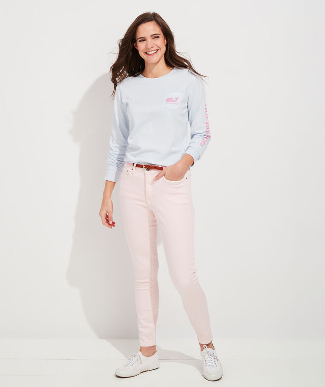 Mother's Day Whale Long-Sleeve Pocket Tee