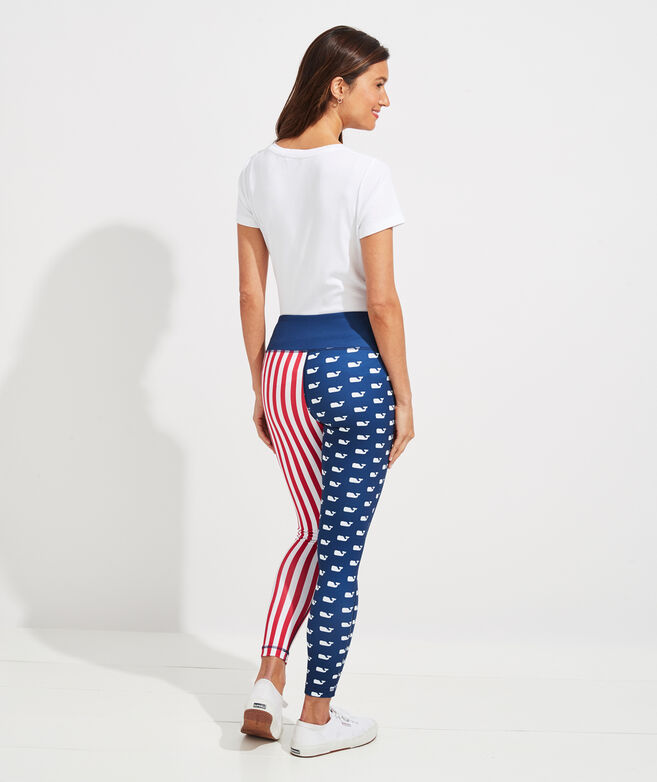 Americana Flag Print Leggings
