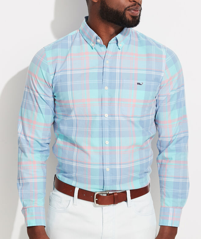 Slim Fit Bimini Island Madras Tucker Button-Down Shirt