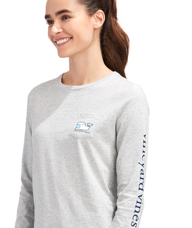 Yeti Whale Long-Sleeve Pocket Tee