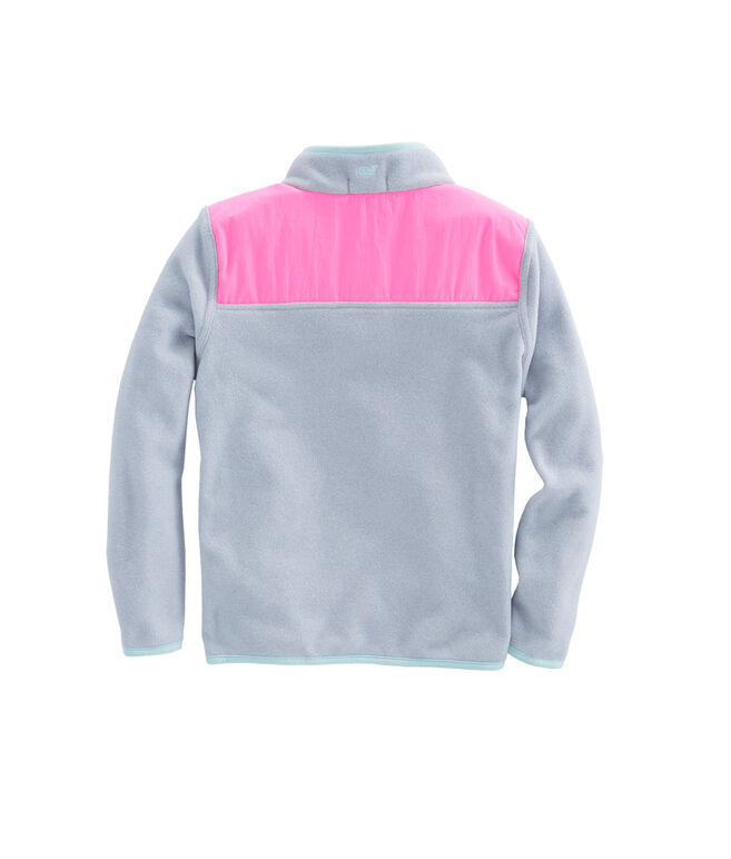 Girls Snap Placket Fleece