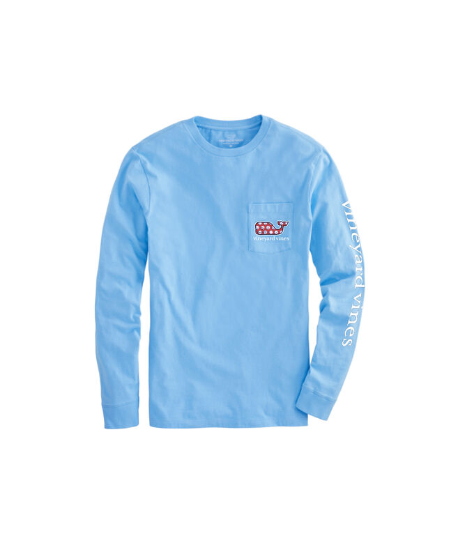 OUTLET Soccer Balls Whale Fill Long-Sleeve Pocket Tee