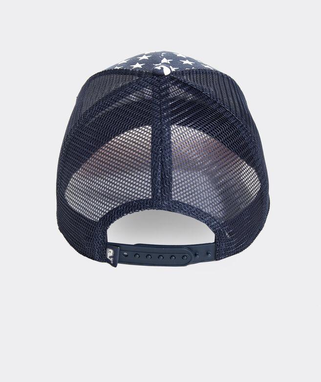 Stars & Stripes Whale Dot Trucker Hat