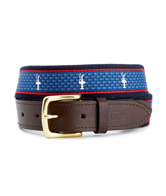 America's Cup Logo Canvas Club Belt