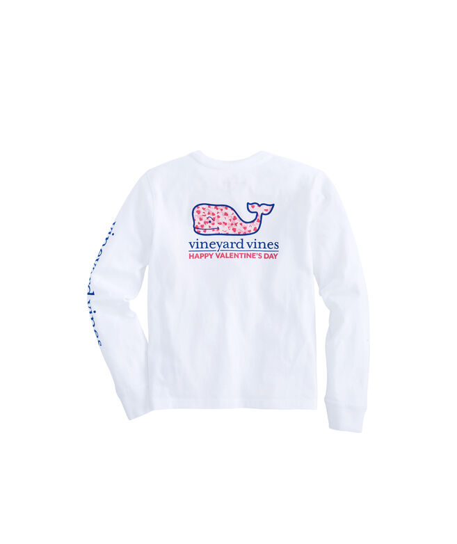 Girls Long-Sleeve Valentine's Day Pocket Tee