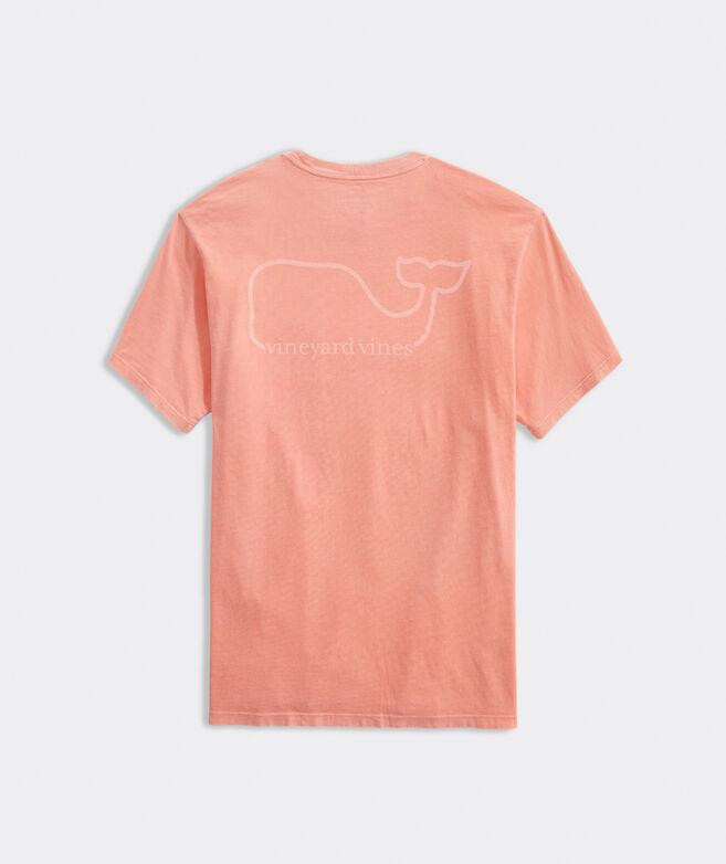 Garment-Dyed VV Whale Short-Sleeve Pocket Tee