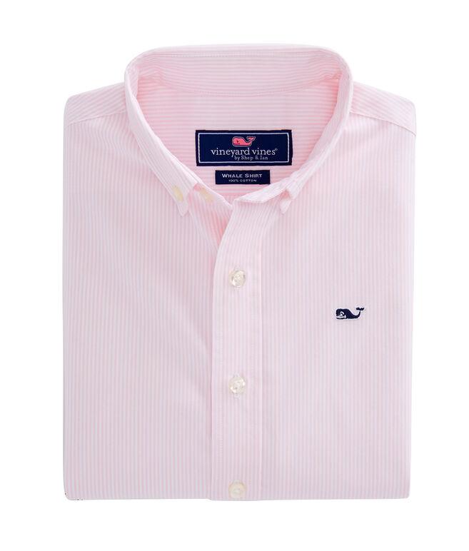 Boys Fine Line Stripe Whale Shirt