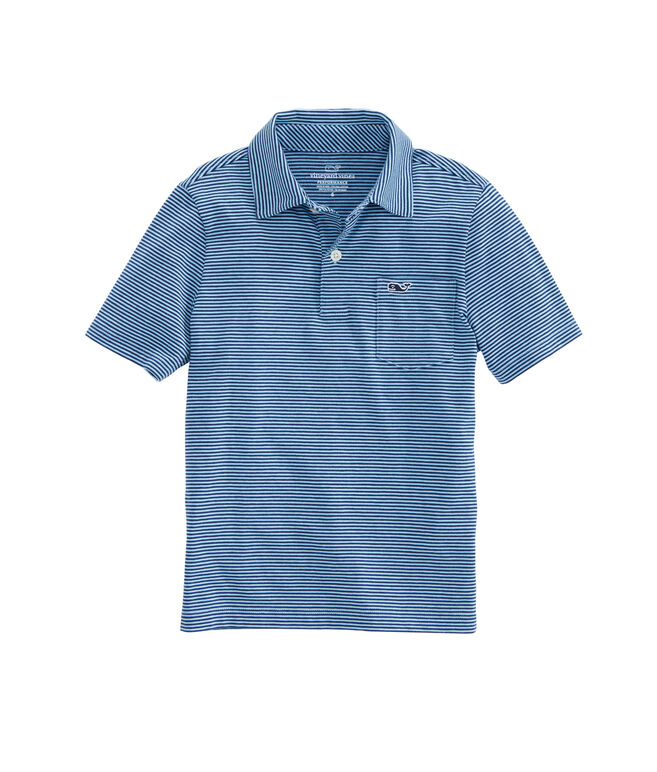 Boys Edgartown Color To Color Stripe Polo