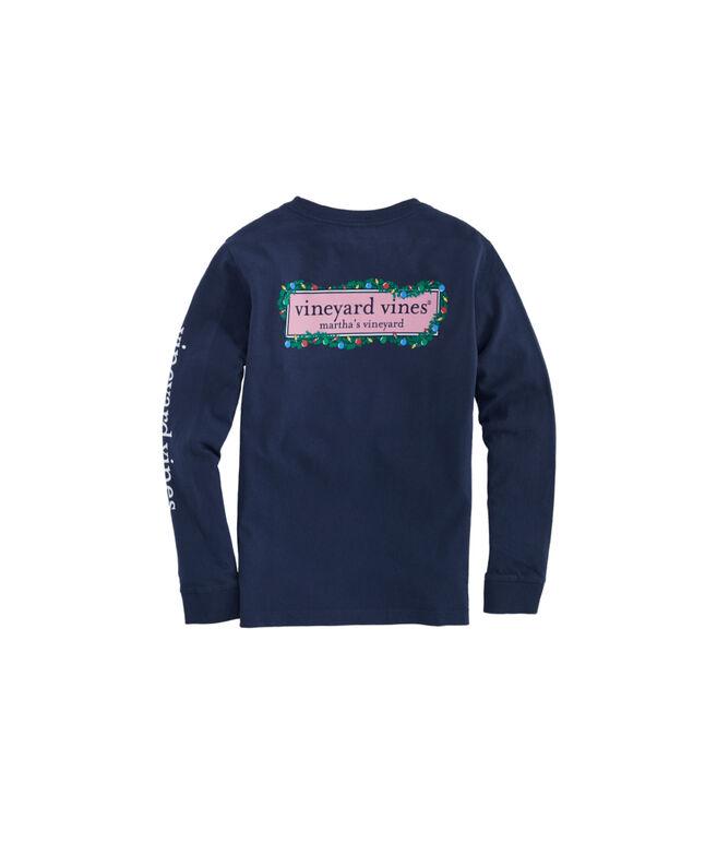Kids Garland Surf Logo Box Fill Long-Sleeve Pocket Tee