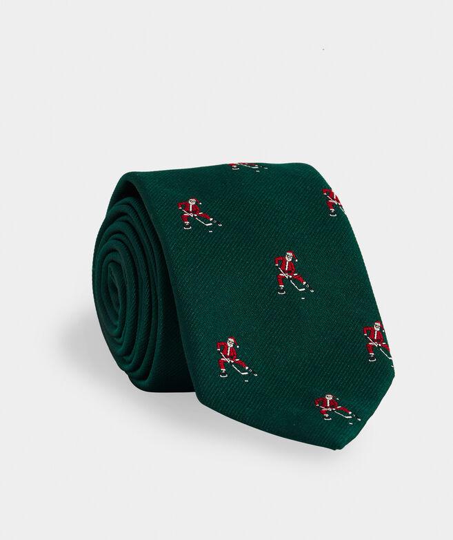 Santa Hockey Woven Kennedy Tie