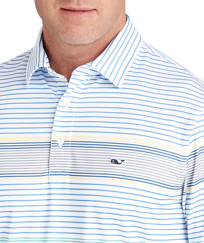 Portsmouth Engineer Stripe Sankaty Performance Polo