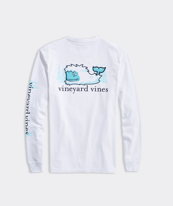 Big & Tall Yeti Whale Spotting Long-Sleeve Pocket Tee