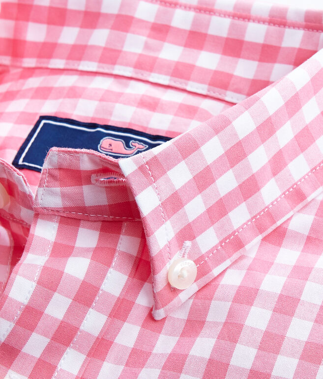 Boys Corozo Gingham Whale Shirt