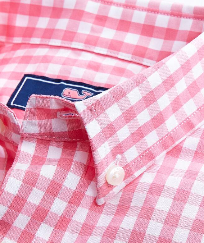 587a1864752 Shop Boys Corozo Gingham Whale Shirt at vineyard vines