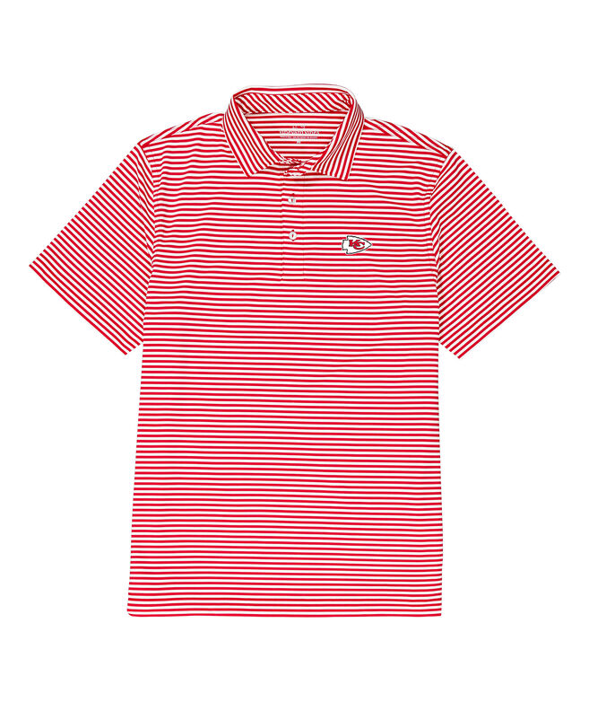 Kansas City Chiefs Winstead Stripe Sankaty Performance Polo