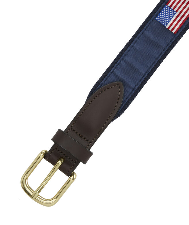 American Flag Canvas Belt