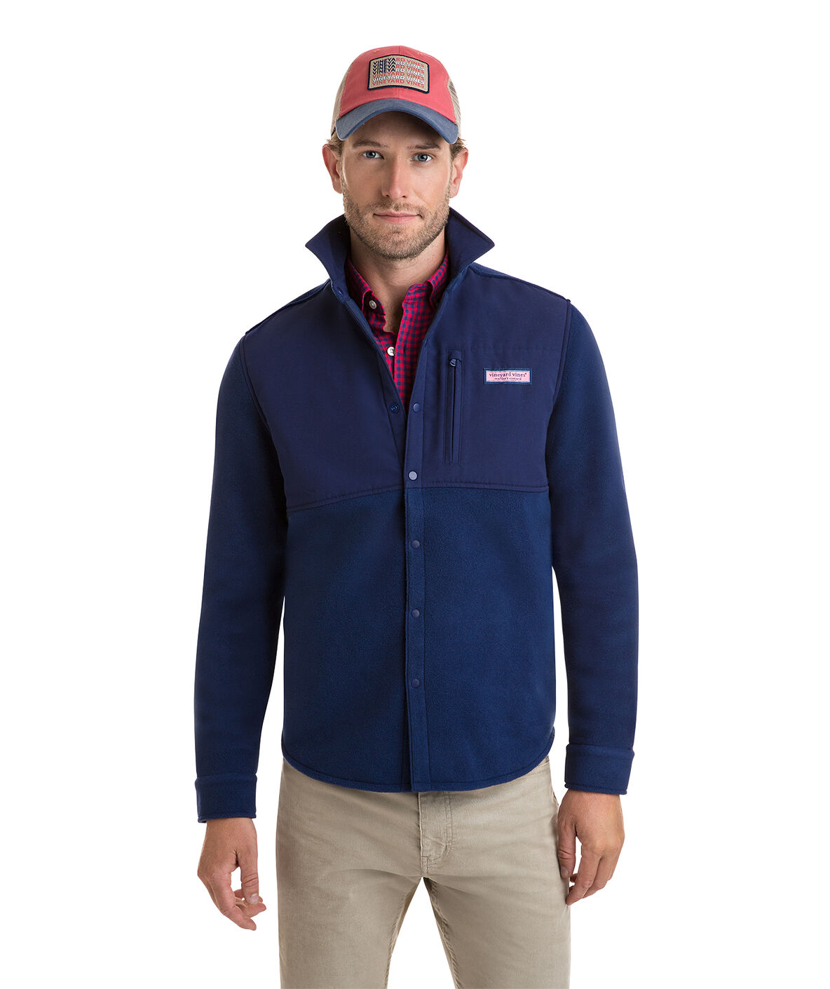 Shop Shirt Jacket Snap Fleece At Vineyard Vines