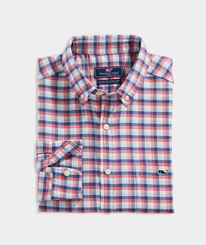 Classic Fit Plaid Island Twill Shirt