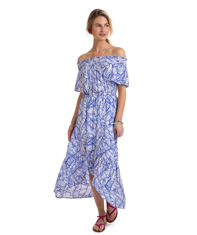 Banana Leaf High-Low Maxi Dress