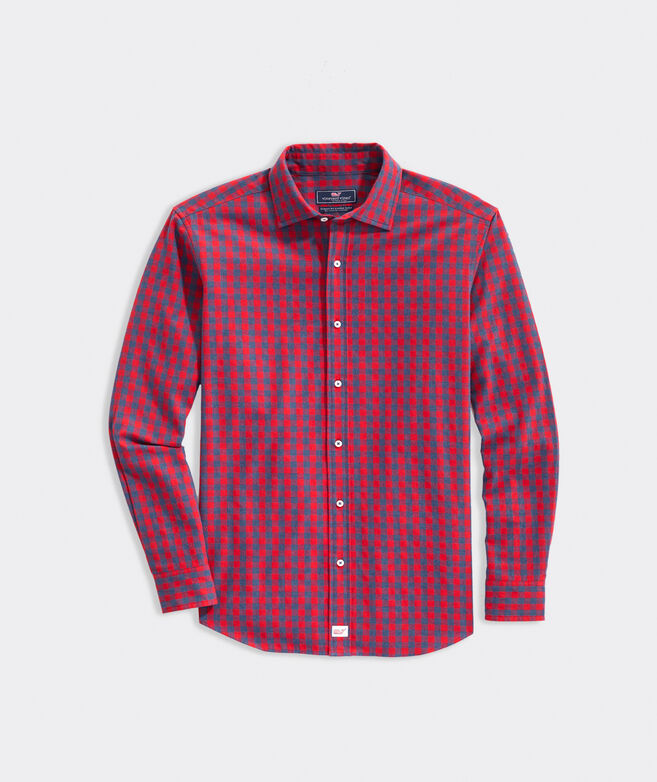 Classic Fit Plaid Shirt in Cashmere Cotton