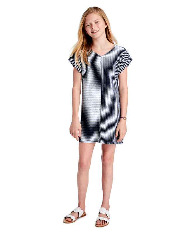 Girls Vineyard Stripe Mix Knit Cover-Up