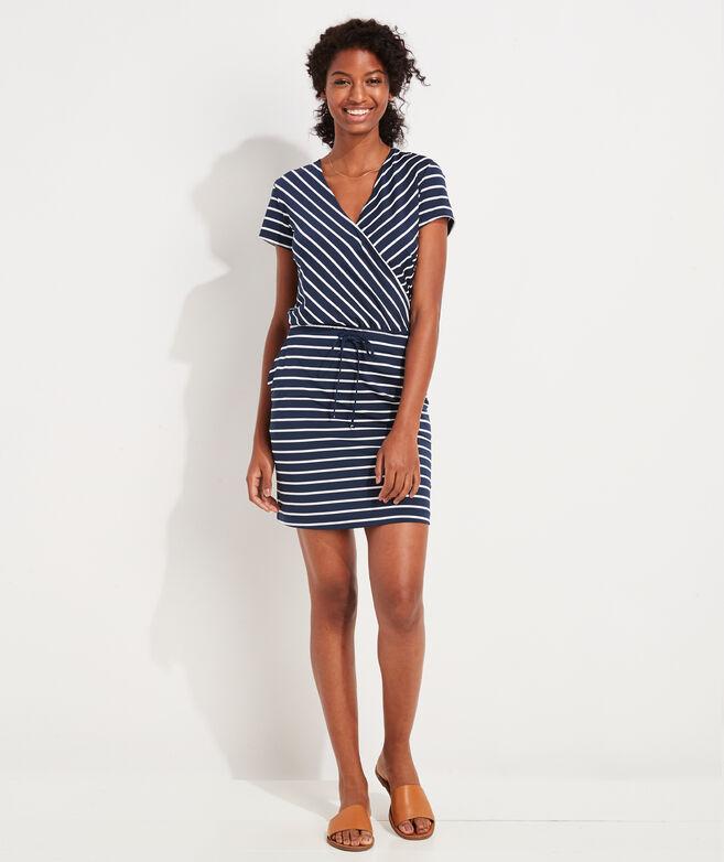 Lightweight Sankaty Striped Wrap Dress