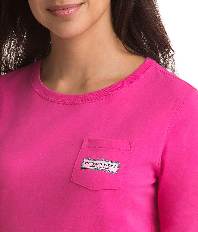 Long-Sleeve Logo Box Lights Pocket Tee
