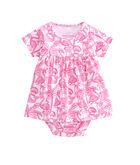 Flamingo Print Onesie Dress