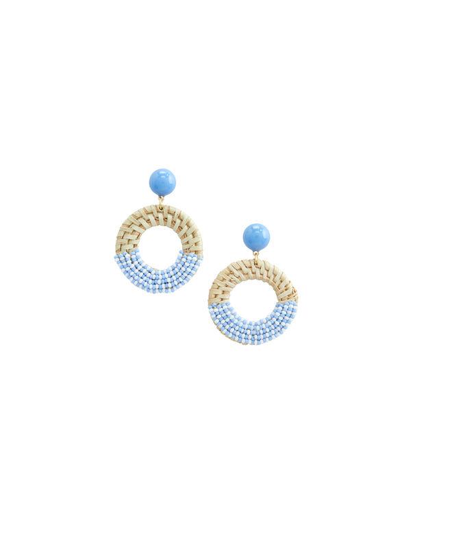 Basket Weave Beaded Earrings
