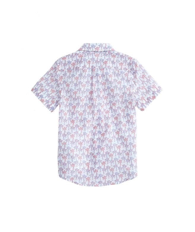 Boys Sketch Palm Short-Sleeve Whale Shirt