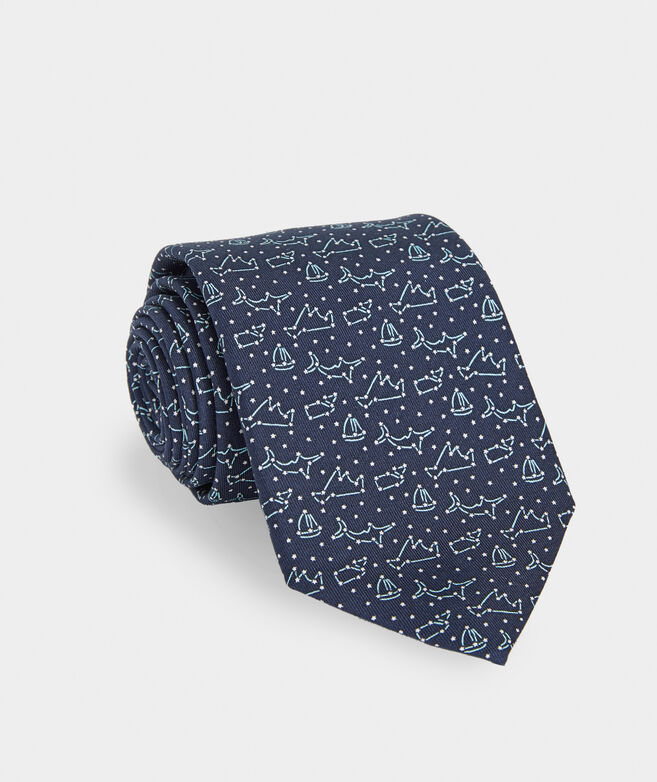 Constellations Printed Tie