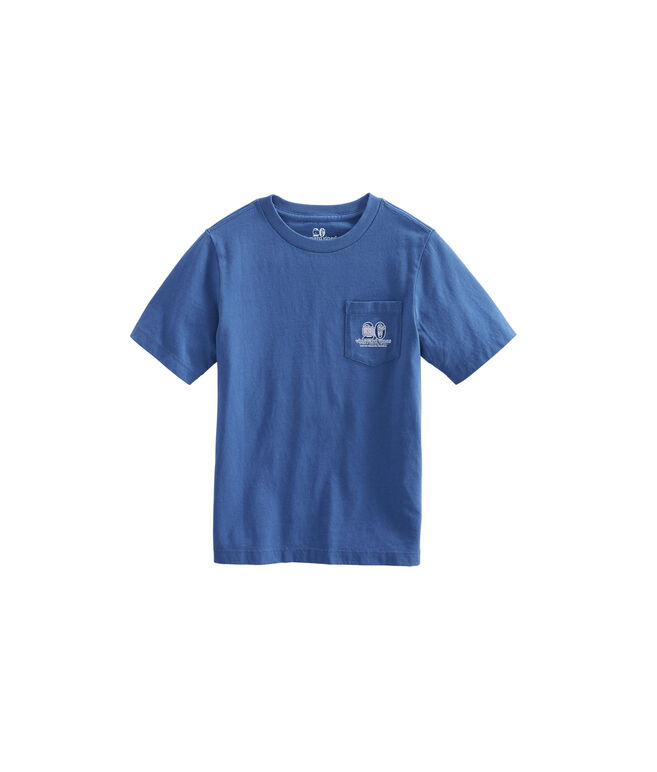 Boys Patchwork Whale Fill Pocket T-Shirt