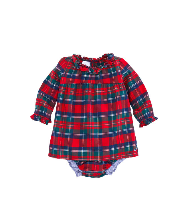 Baby Merry Plaid Flannel Dress