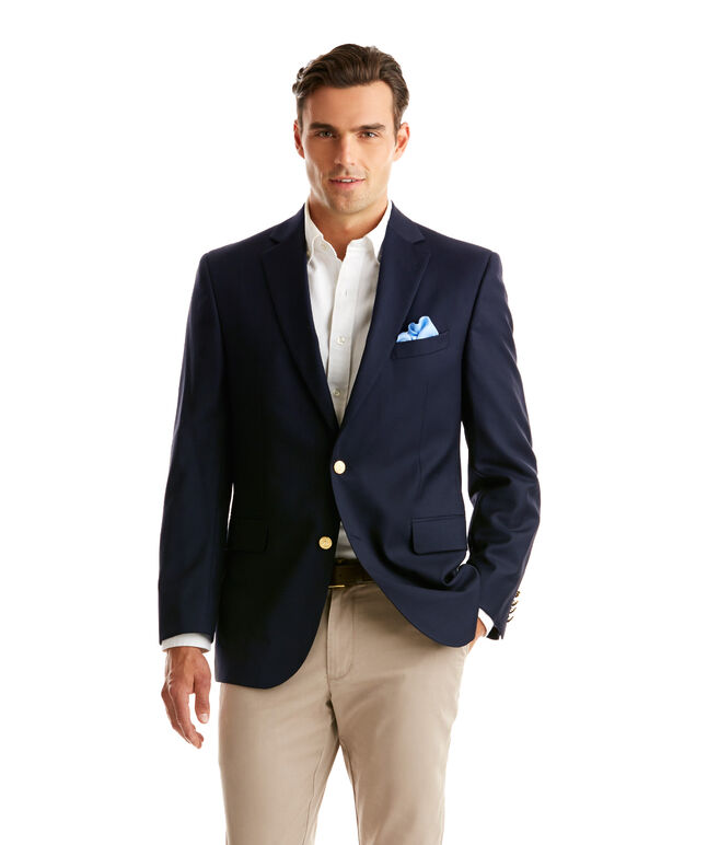 Two-Button Blue Blazer