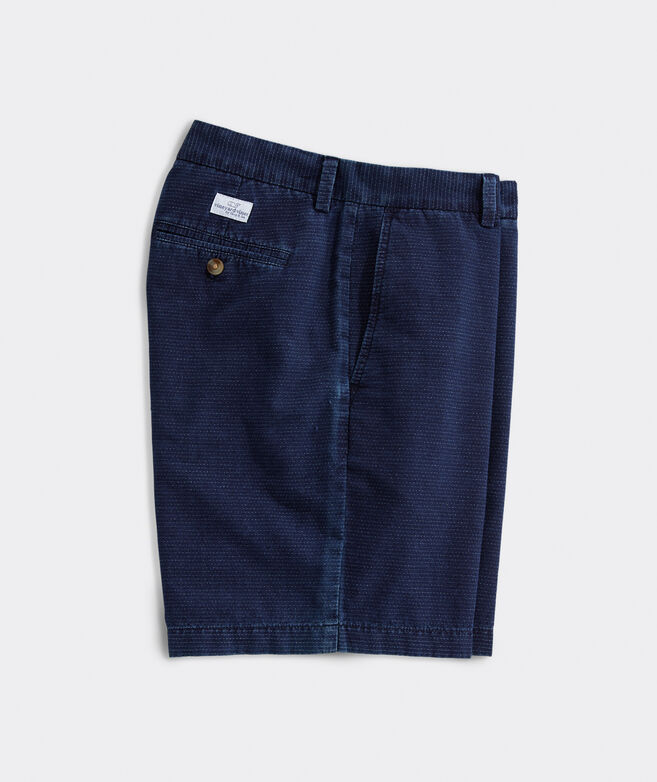 9 Inch Indigo Textured Breaker Shorts