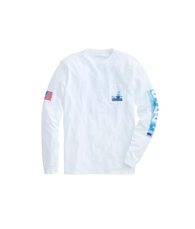 Long-Sleeve Sportfisher Poster Pocket T-Shirt