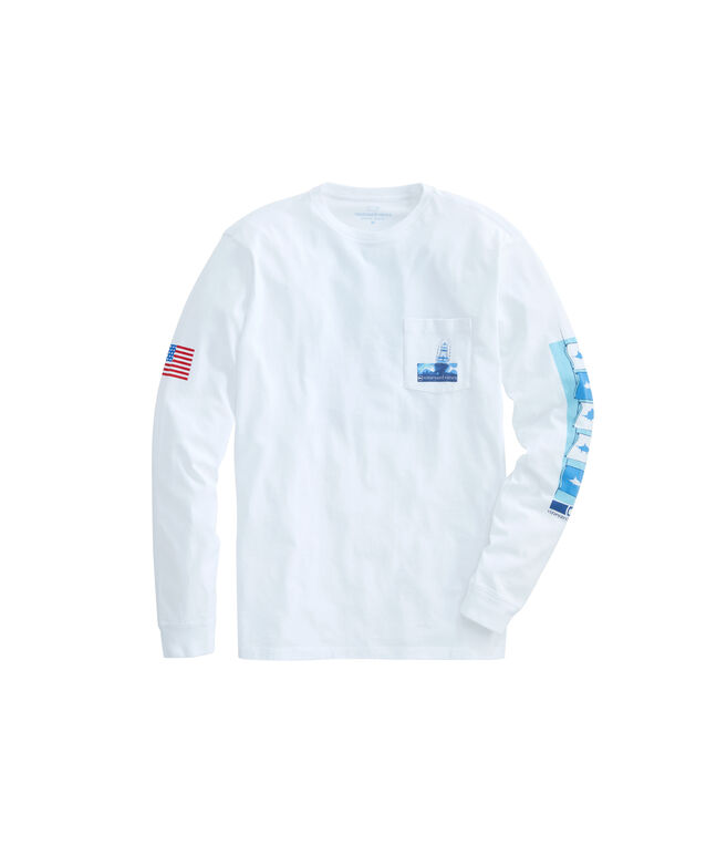 Long-Sleeve Sportfisher Poster Pocket T-Shirt