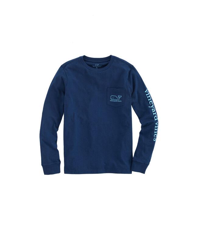 Boys Glow In The Dark Whale Logo Long-Sleeve T-Shirt