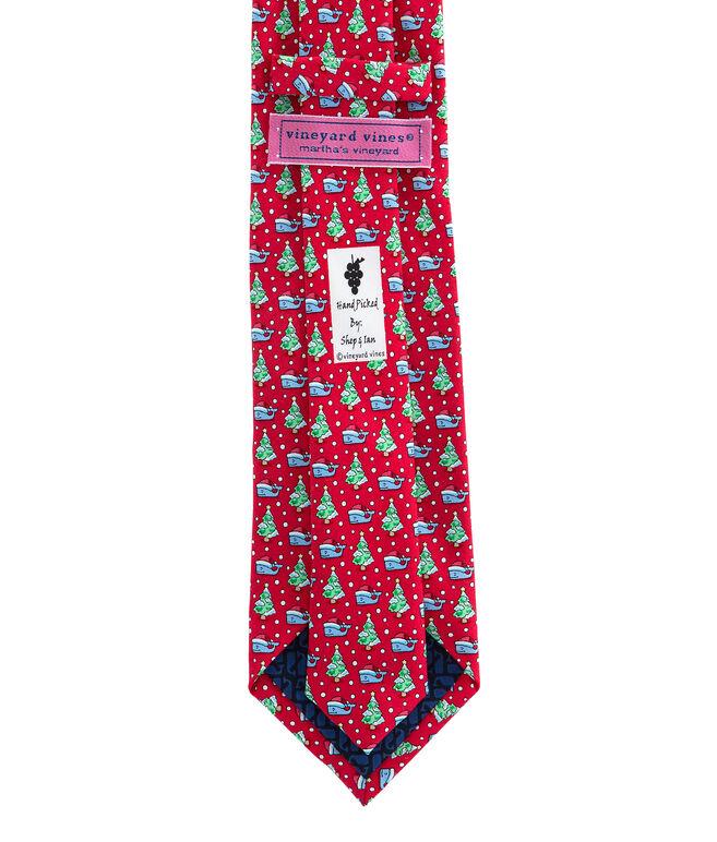 Santa Whale & Tree Tie