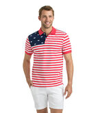 USA Flag Slim Polo