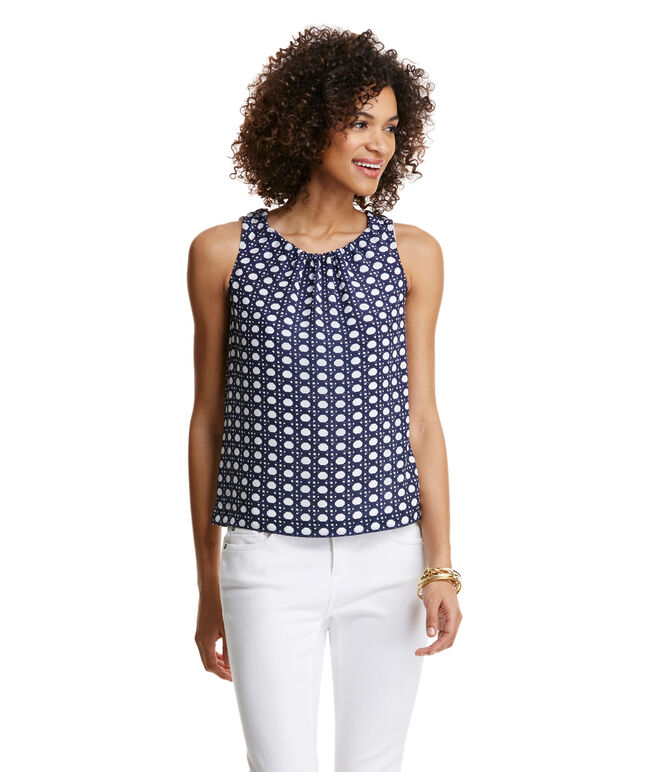 Silk Caning Print Top