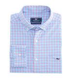 Boldwater Plaid Performance Cotton Slim Tucker Shirt